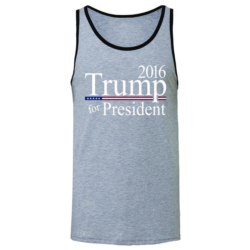 Trump for President 2016 Campaign Men's Jersey Tank Politics Sleeveless - Zexpa Apparel - 2