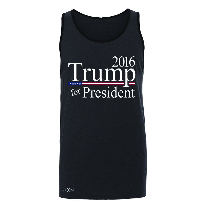 Trump for President 2016 Campaign Men's Jersey Tank Politics Sleeveless - Zexpa Apparel - 3
