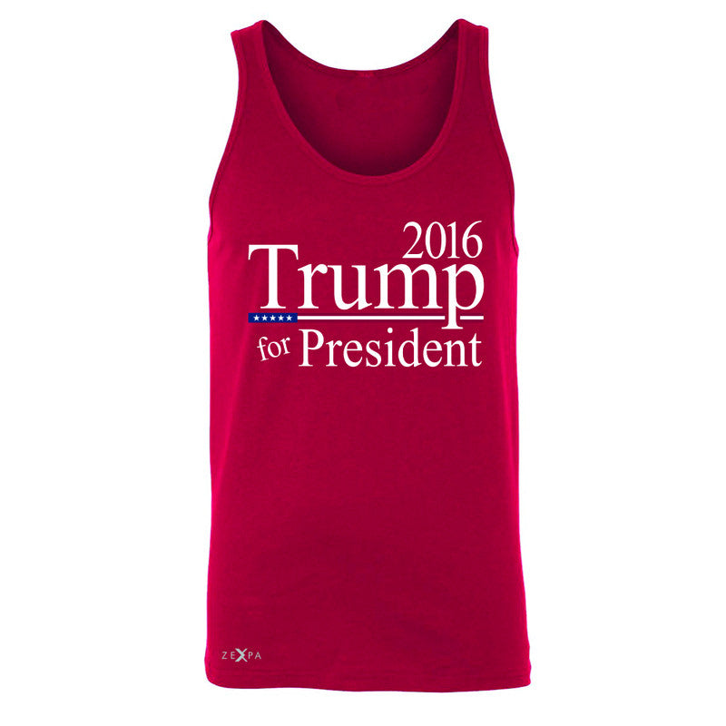 Trump for President 2016 Campaign Men's Jersey Tank Politics Sleeveless - Zexpa Apparel - 4