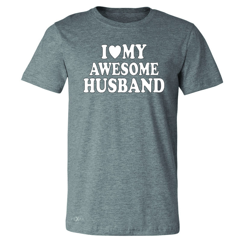 I Love My Awesome Husband Men's T-shirt Couple Matching Feb 14 Tee - Zexpa Apparel - 3