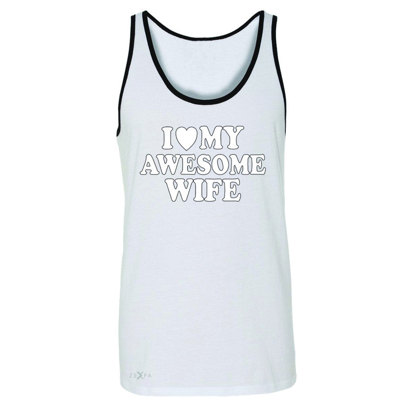 I Love My Awesome Wife Men's Jersey Tank Couple Matching Feb 14 Sleeveless - Zexpa Apparel - 6