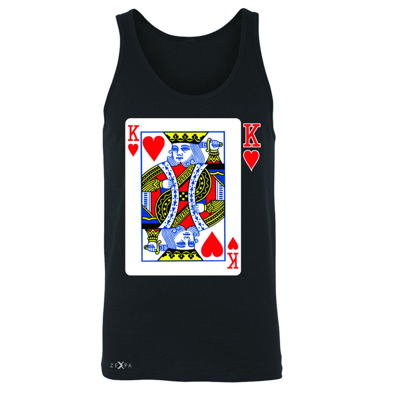 Playing Cards King Men's Jersey Tank Couple Matching Deck Feb 14 Sleeveless - Zexpa Apparel - 1