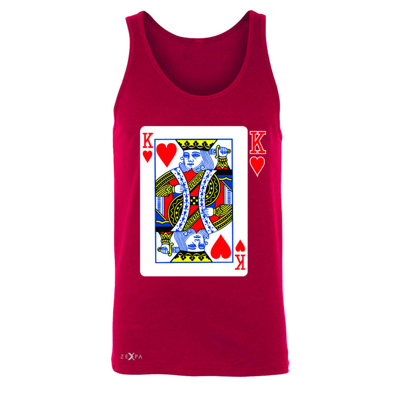 Playing Cards King Men's Jersey Tank Couple Matching Deck Feb 14 Sleeveless - Zexpa Apparel - 4