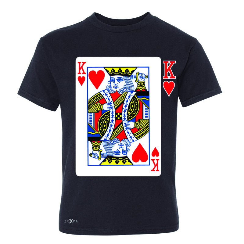 Playing Cards King Youth T-shirt Couple Matching Deck Feb 14 Tee - Zexpa Apparel - 1