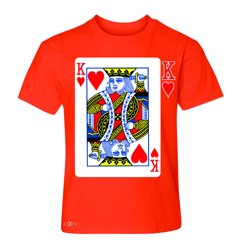 Playing Cards King Youth T-shirt Couple Matching Deck Feb 14 Tee - Zexpa Apparel - 2