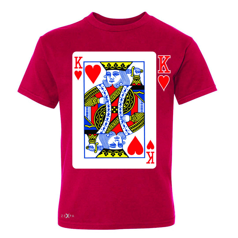Playing Cards King Youth T-shirt Couple Matching Deck Feb 14 Tee - Zexpa Apparel - 4