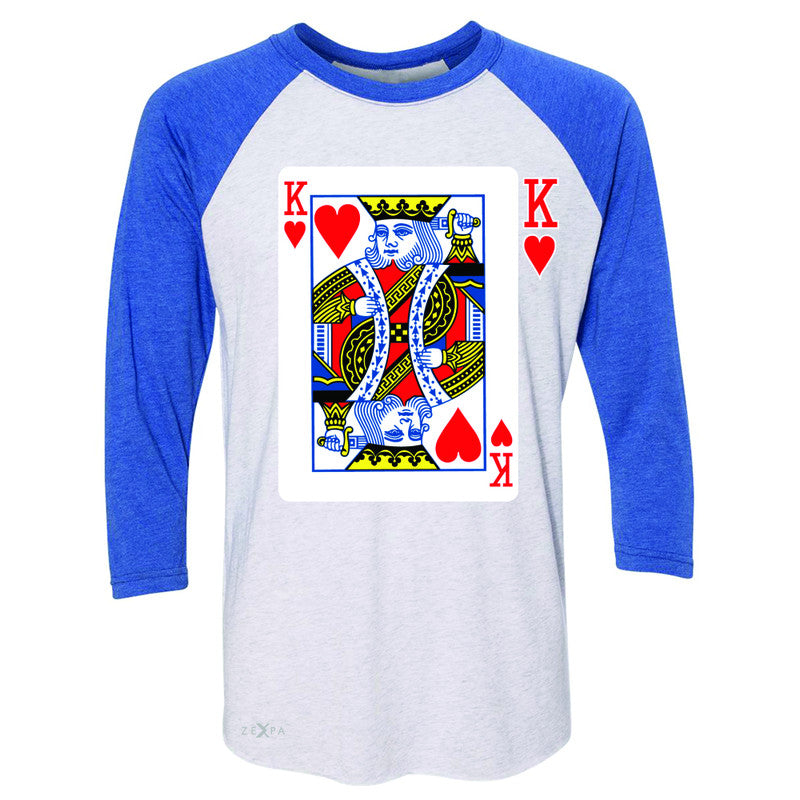 Playing Cards King 3/4 Sleevee Raglan Tee Couple Matching Deck Feb 14 Tee - Zexpa Apparel - 3
