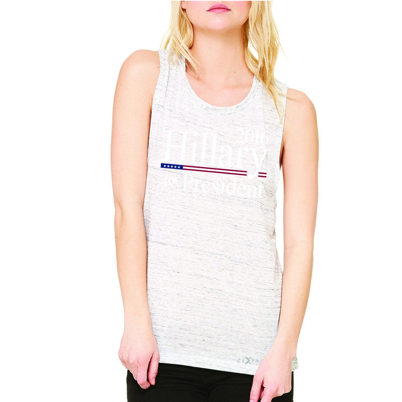 Hillary  for President 2016 Campaign Women's Muscle Tee Politics Sleeveless - Zexpa Apparel - 5