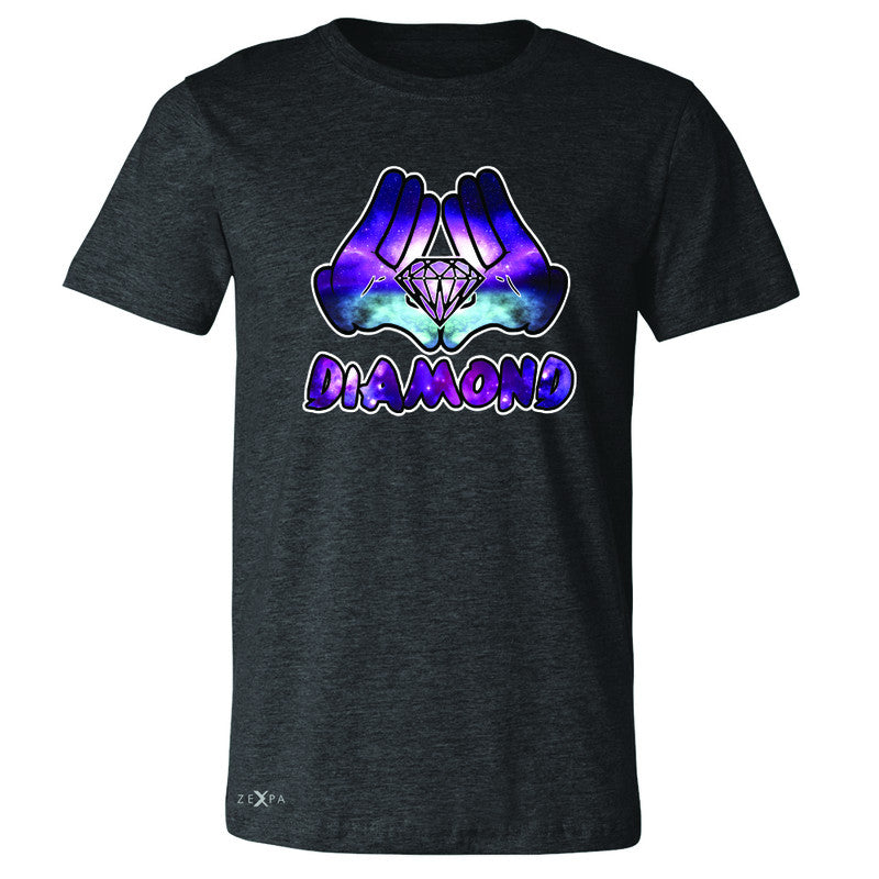 Galaxy Diamond Hands Cartoon Men's T-shirt Cool Graphic Design Tee - Zexpa Apparel - 2