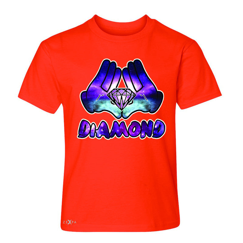 Galaxy Diamond Hands Cartoon Youth T-shirt Cool Graphic Design Tee - Zexpa Apparel - 2