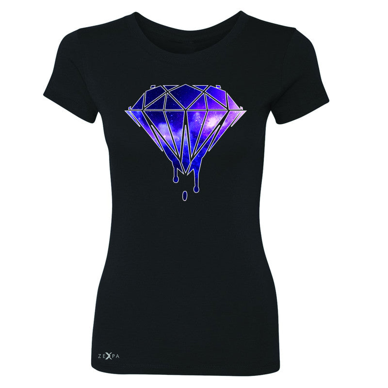 Galaxy Diamond Bleeding Dripping Women's T-shirt Cool Design Tee - Zexpa Apparel - 1