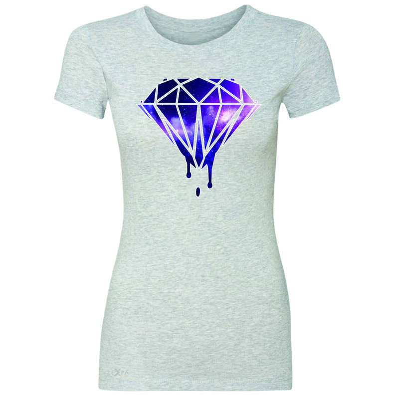 Galaxy Diamond Bleeding Dripping Women's T-shirt Cool Design Tee - Zexpa Apparel - 2