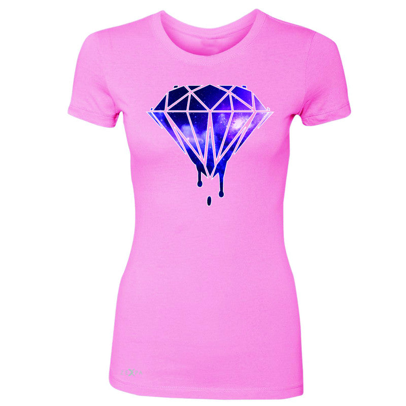 Galaxy Diamond Bleeding Dripping Women's T-shirt Cool Design Tee - Zexpa Apparel - 3