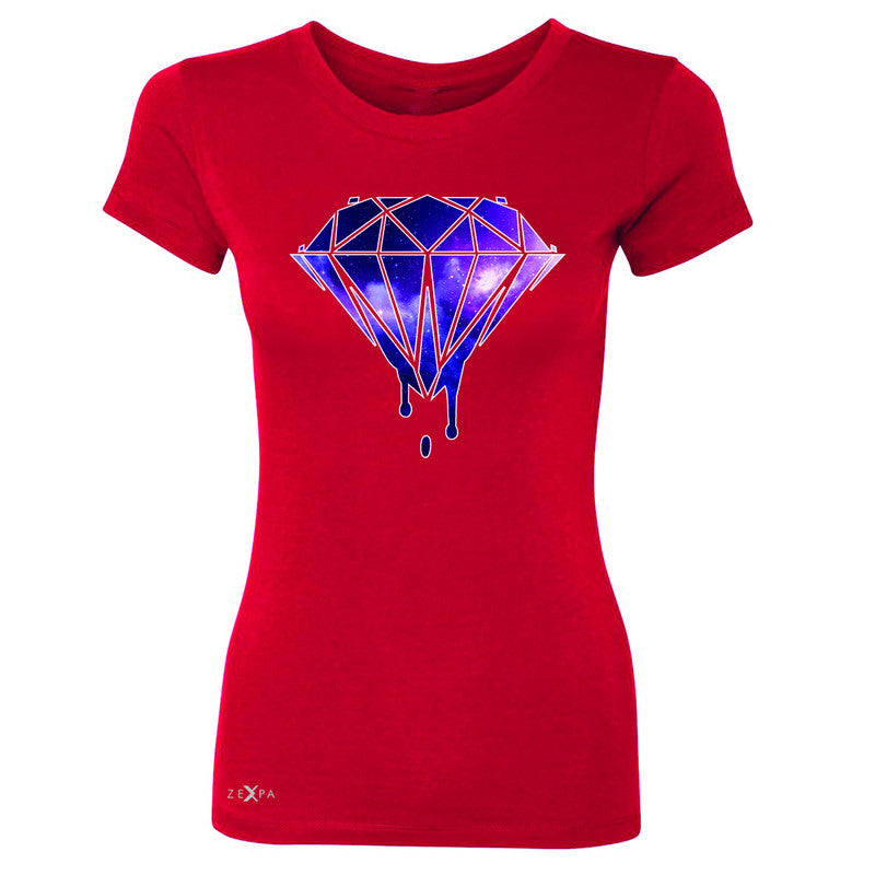Galaxy Diamond Bleeding Dripping Women's T-shirt Cool Design Tee - Zexpa Apparel - 4