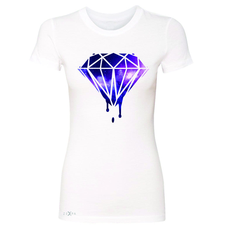 Galaxy Diamond Bleeding Dripping Women's T-shirt Cool Design Tee - Zexpa Apparel - 5