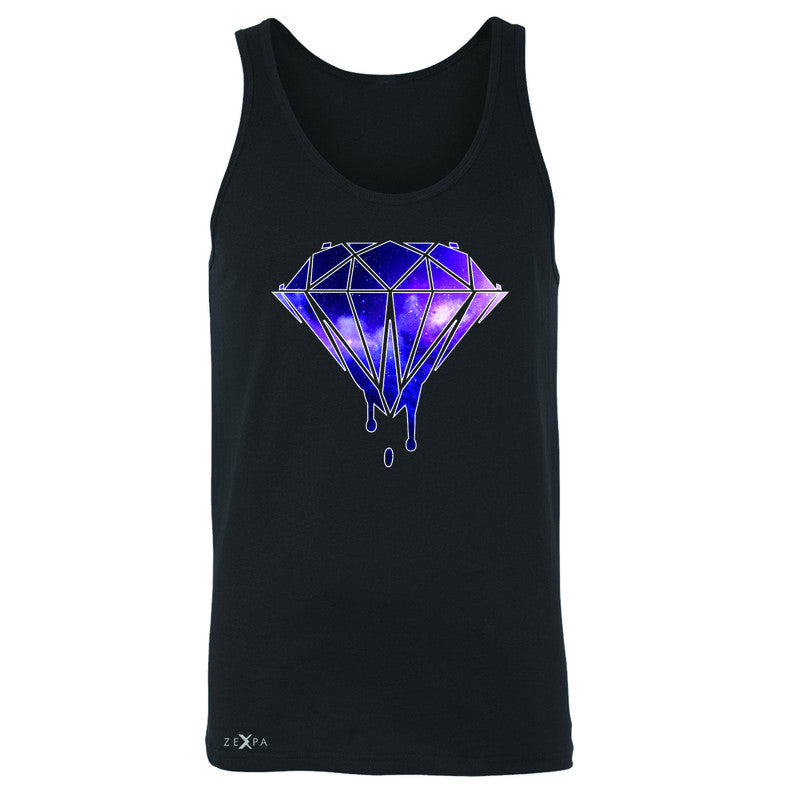 Galaxy Diamond Bleeding Dripping Men's Jersey Tank Cool Design Sleeveless - Zexpa Apparel - 1