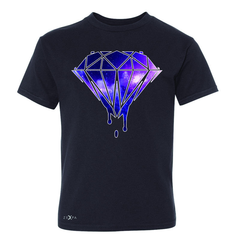Galaxy Diamond Bleeding Dripping Youth T-shirt Cool Design Tee - Zexpa Apparel - 1