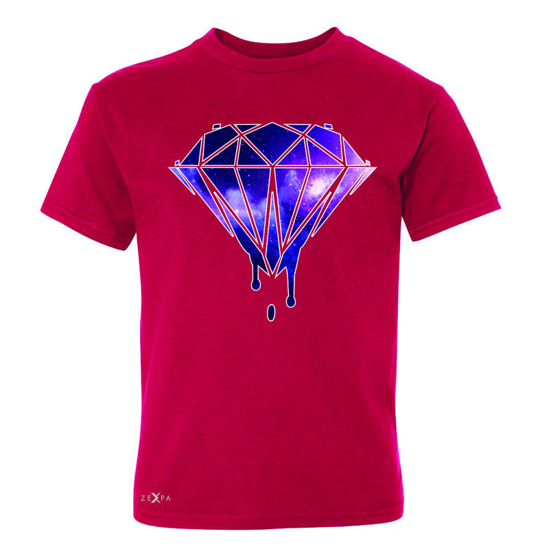 Galaxy Diamond Bleeding Dripping Youth T-shirt Cool Design Tee - Zexpa Apparel - 4