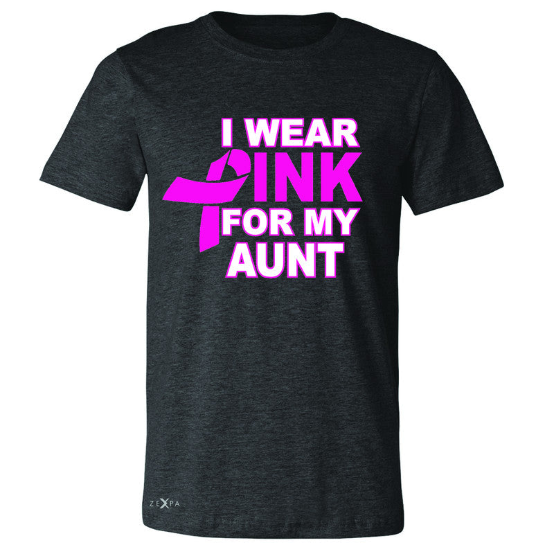 I Wear Pink For My Aunt Men's T-shirt Breast Cancer Awareness Tee - Zexpa Apparel - 2