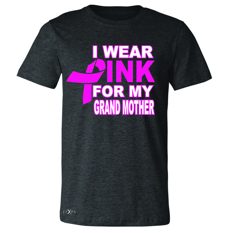 I Wear Pink For My Grand Mother Men's T-shirt Breast Cancer Awareness Tee - Zexpa Apparel - 2