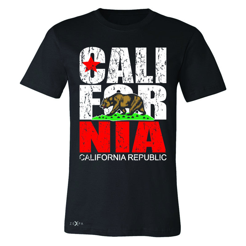 California Republic Vintage Men's T-shirt State Flag CA Bear Tee - Zexpa Apparel Halloween Christmas Shirts