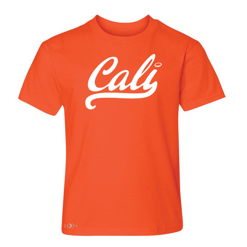 Cali White Lettering Youth T-shirt California State Baseball Tee - Zexpa Apparel Halloween Christmas Shirts