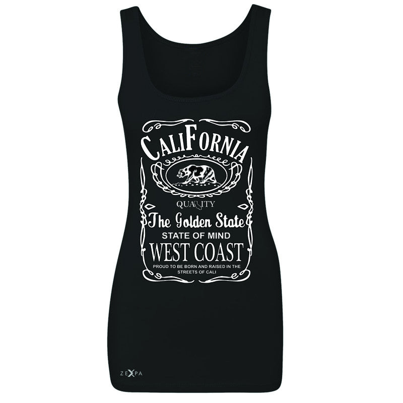California West Coast Bear Women's Tank Top The Golden State CA Sleeveless - Zexpa Apparel Halloween Christmas Shirts