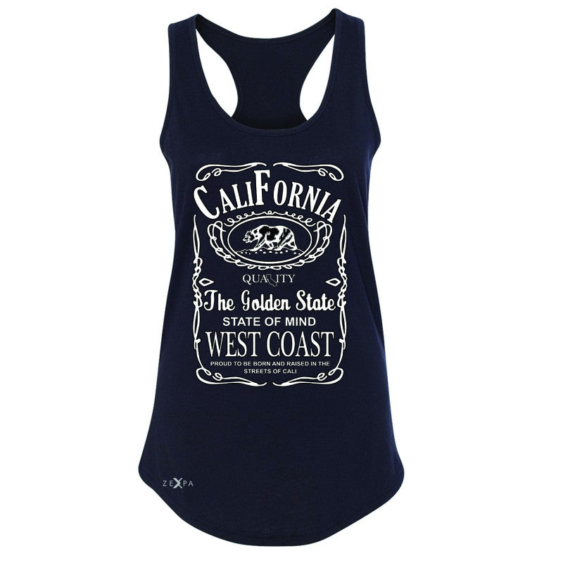 California West Coast Bear Women's Racerback The Golden State CA Sleeveless - Zexpa Apparel Halloween Christmas Shirts