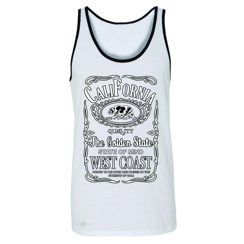 California West Coast Bear Men's Jersey Tank The Golden State CA Sleeveless - Zexpa Apparel Halloween Christmas Shirts