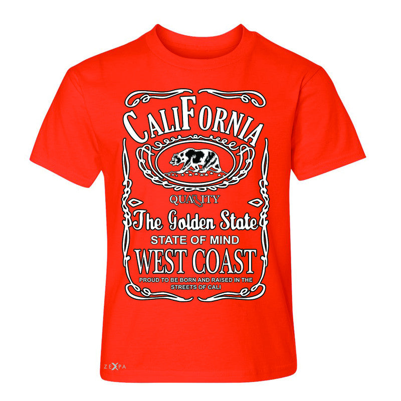 California West Coast Bear Youth T-shirt The Golden State CA Tee - Zexpa Apparel Halloween Christmas Shirts