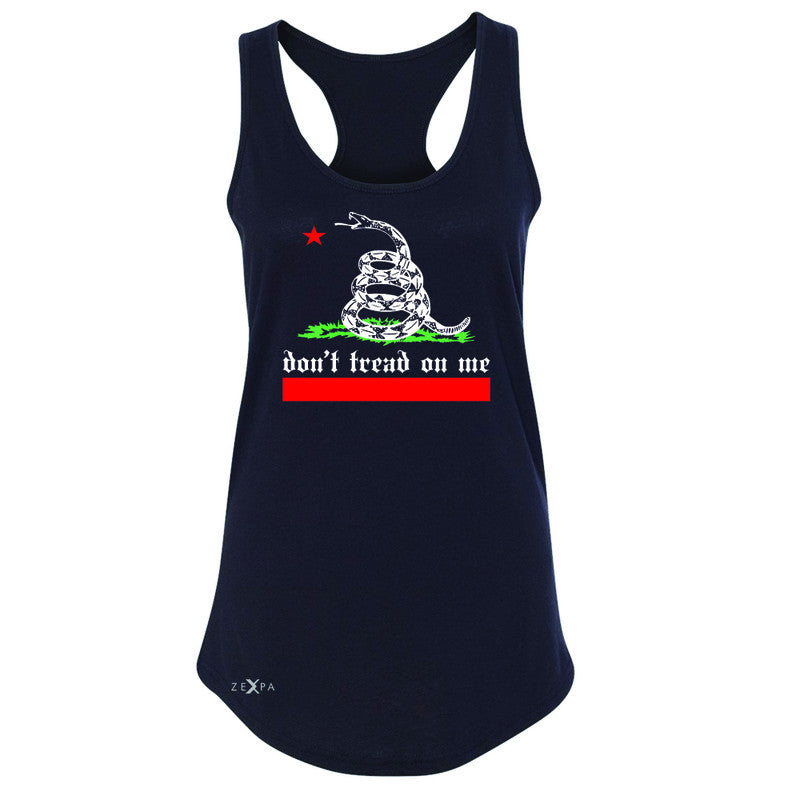 "Zexpa Apparelâ""¢ Don't Tread On Me Women's Racerback Politics C. Gadsden 1775 Sleeveless - Zexpa Apparel Halloween Christmas Shirts"