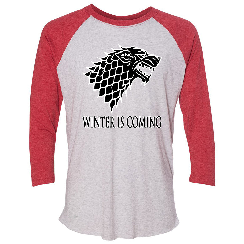 Winter is Coming Stark 3/4 Sleevee Raglan Tee Thronies North GOT Fan  Tee - Zexpa Apparel - 2