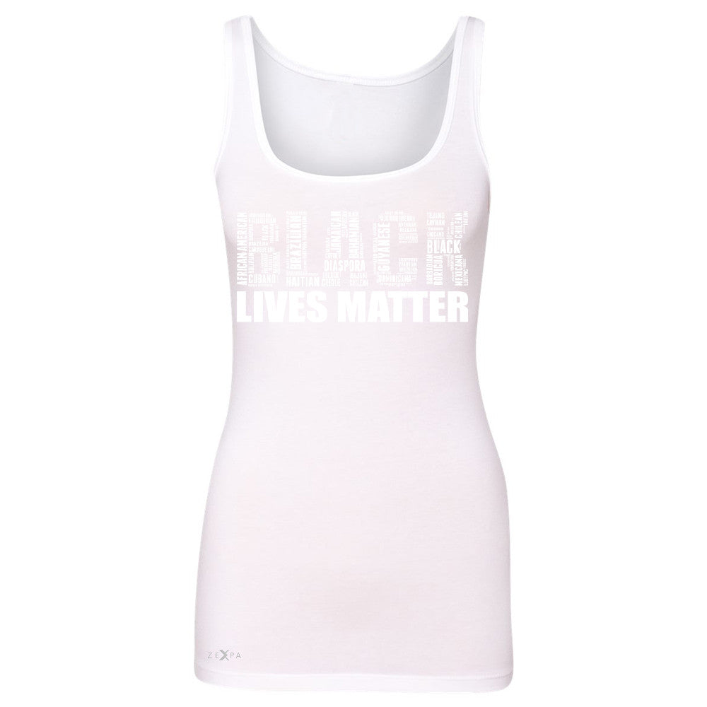 Black Lives Matter Women's Tank Top Freedom Civil Rights Political Sleeveless - Zexpa Apparel Halloween Christmas Shirts