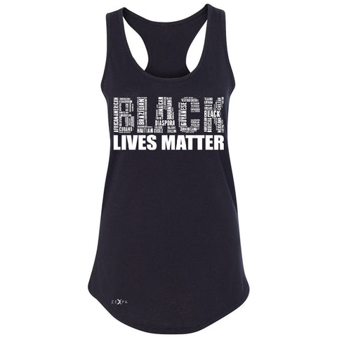 Black Lives Matter Women's Racerback Freedom Civil Rights Political Sleeveless - Zexpa Apparel Halloween Christmas Shirts