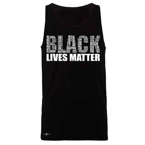 Black Lives Matter Men's Jersey Tank Freedom Civil Rights Political Sleeveless - Zexpa Apparel Halloween Christmas Shirts