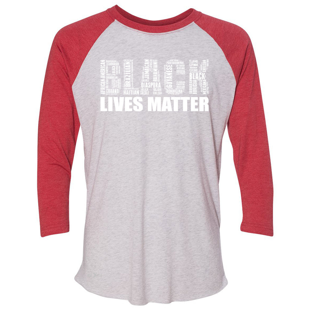 Black Lives Matter 3/4 Sleevee Raglan Tee Freedom Civil Rights Political Tee - Zexpa Apparel Halloween Christmas Shirts