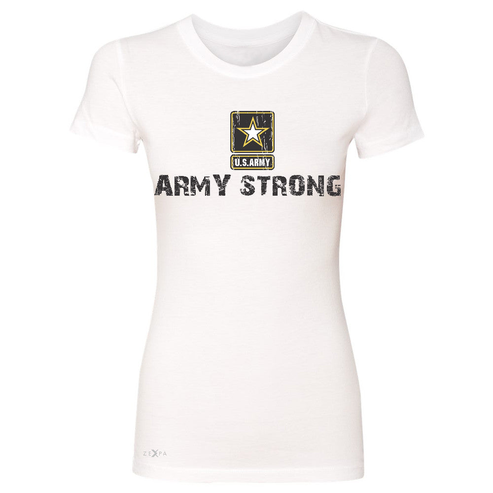 Army Strong US Army Unisex - Women's T-shirt Military Star Cool Tee - Zexpa Apparel Halloween Christmas Shirts