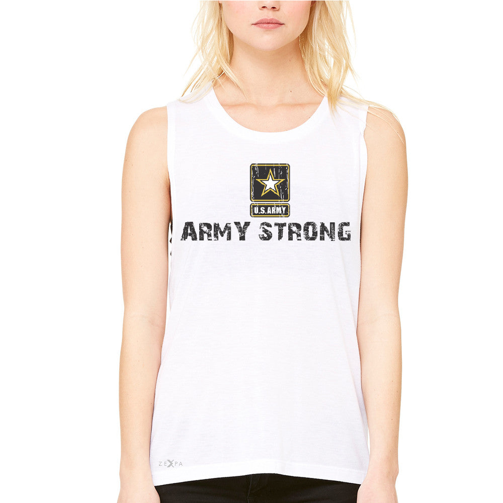 Army Strong US Army Unisex - Women's Muscle Tee Military Star Cool Tanks - Zexpa Apparel Halloween Christmas Shirts