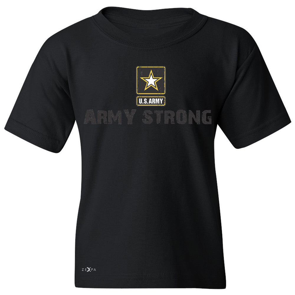 Army Strong US Army Unisex - Youth T-shirt Military Star Cool Tee - Zexpa Apparel Halloween Christmas Shirts