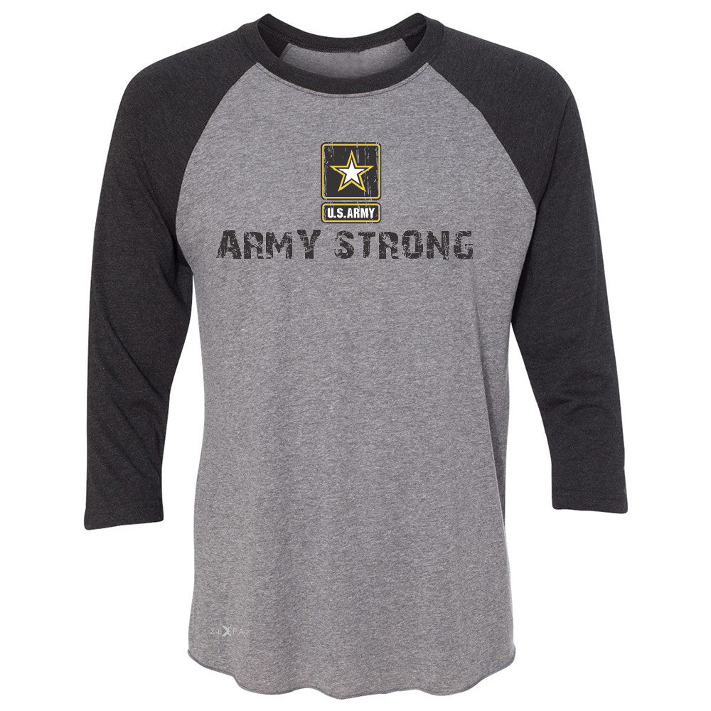 Army Strong US Army Unisex - 3/4 Sleevee Raglan Tee Military Star Cool Tee - Zexpa Apparel Halloween Christmas Shirts