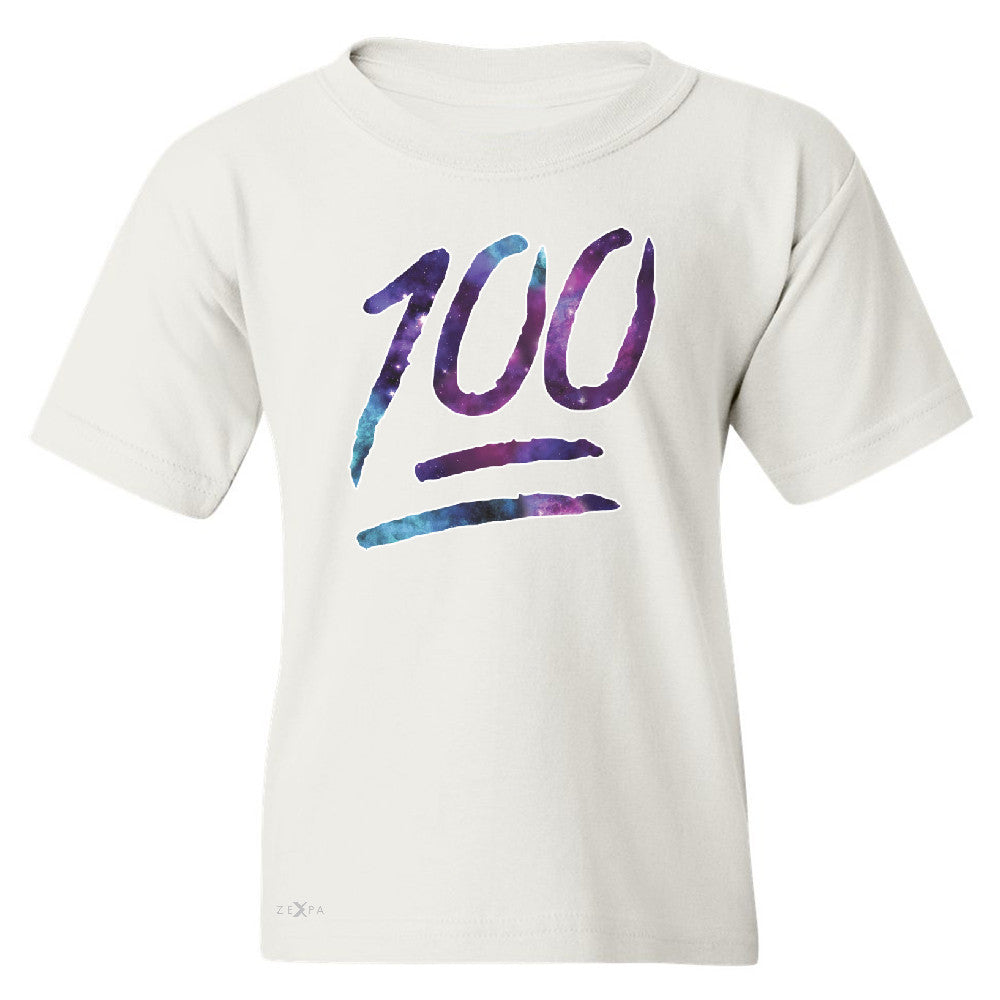 Galaxy Emoji 100 Grade Youth T-shirt Funny Humor Cool Whats Up Tee - Zexpa Apparel - 5