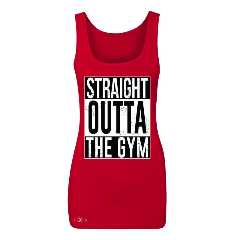 Straight Outta The Gym Women's Tank Top Workout Fitness Bodybuild Sleeveless - Zexpa Apparel - 3