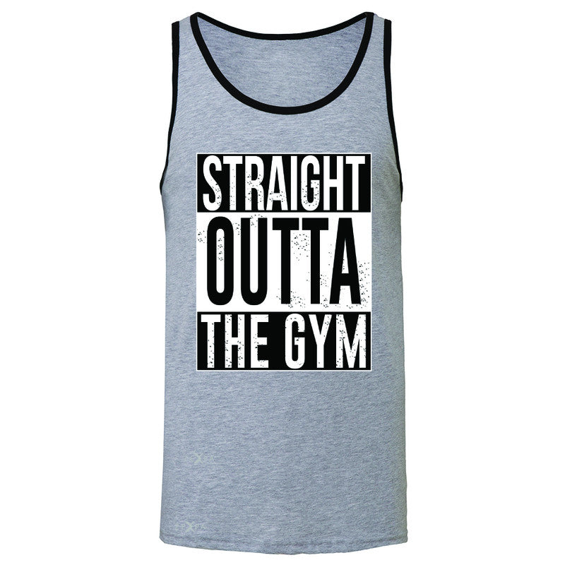 Straight Outta The Gym Men's Jersey Tank Workout Fitness Bodybuild Sleeveless - Zexpa Apparel - 2