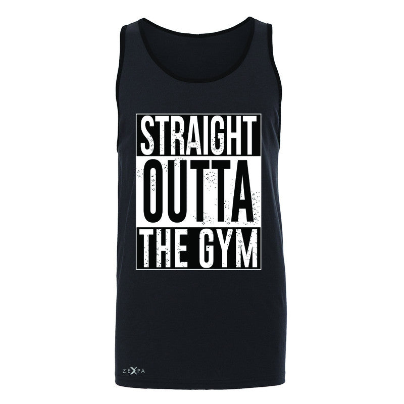 Straight Outta The Gym Men's Jersey Tank Workout Fitness Bodybuild Sleeveless - Zexpa Apparel - 3