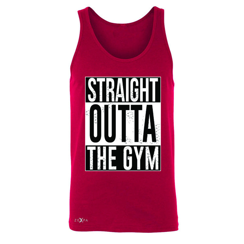 Straight Outta The Gym Men's Jersey Tank Workout Fitness Bodybuild Sleeveless - Zexpa Apparel - 4