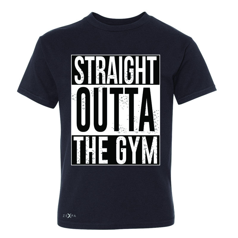 Straight Outta The Gym Youth T-shirt Workout Fitness Bodybuild Tee - Zexpa Apparel - 1