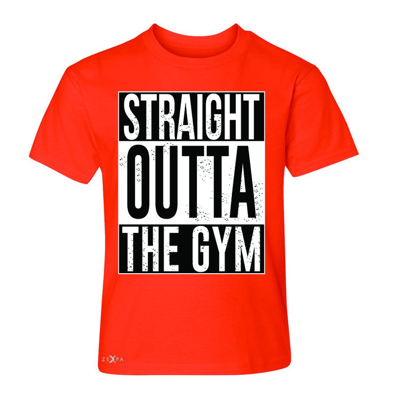 Straight Outta The Gym Youth T-shirt Workout Fitness Bodybuild Tee - Zexpa Apparel - 2