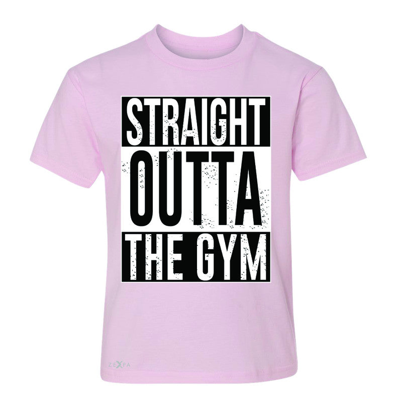 Straight Outta The Gym Youth T-shirt Workout Fitness Bodybuild Tee - Zexpa Apparel - 3