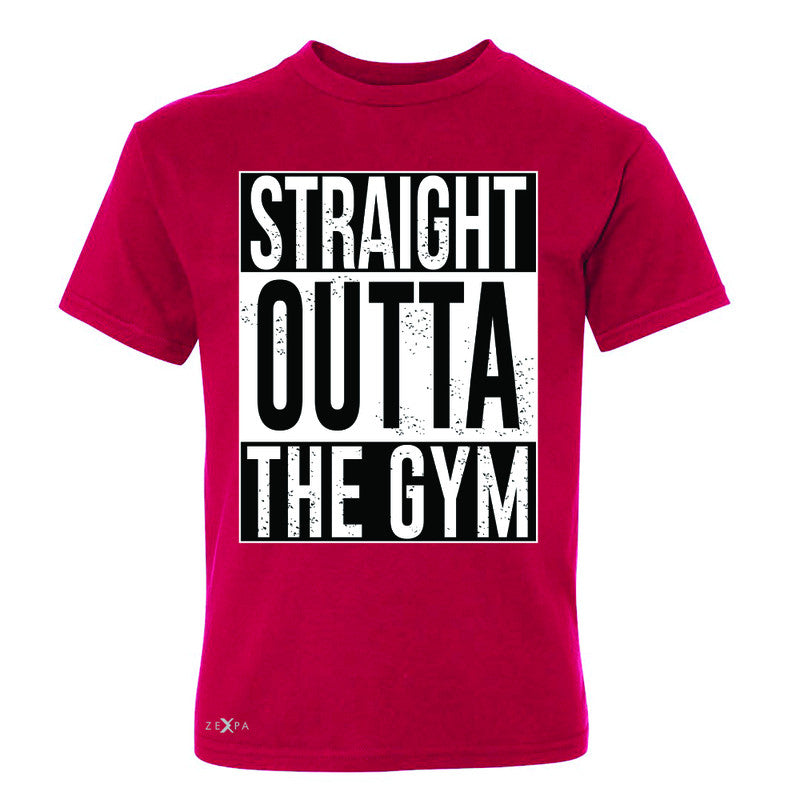 Straight Outta The Gym Youth T-shirt Workout Fitness Bodybuild Tee - Zexpa Apparel - 4
