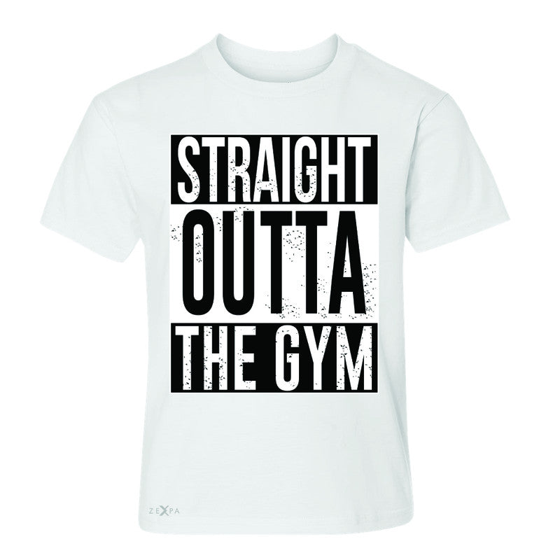 Straight Outta The Gym Youth T-shirt Workout Fitness Bodybuild Tee - Zexpa Apparel - 5